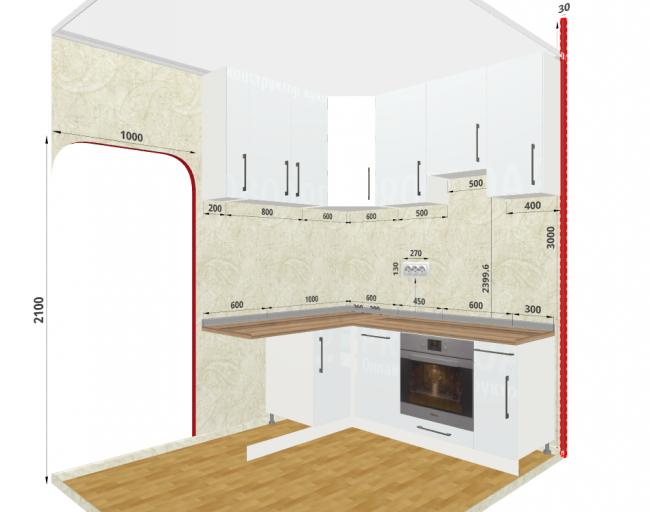 5 примеров кухонь для вдохновения. Нарисованы в конструкторе
